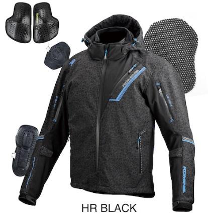 07-5791 JK-579 プロテクトソフトシェルウインターパーカ イフ HR-ブラック Lサイズ コミネ(KOMINE)