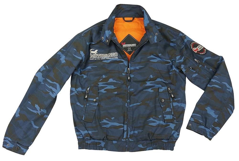 JK-591 07-591 プロテクトスイングトップジャケット ブルーカモ Sサイズ コミネ(KOMINE)