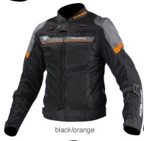 JK-093(07-093)エアストリームメッシュジャケット コルドバ ブラック/オレンジ SMサイズ コミネ(KOMINE)