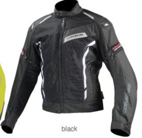 JK-103(07-103)カーボンプロテクトメッシュジャケット ブラック 2XLサイズ コミネ(KOMINE)