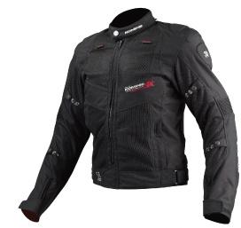 JJ-003 00-003 ツアラーメッシュジャケット ブラック Lサイズ コミネ(KOMINE)