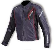 JK-128 07-128 プロテクトフルメッシュジャケット ブラック/レッド 3XLサイズ コミネ(KOMINE)