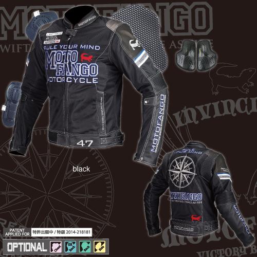 MJ-001 17-001 ライディングレザーメッシュジャケット ブラック Lサイズ コミネ(KOMINE)