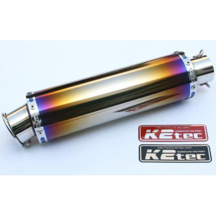 汎用チタンサイレンサー・外径:φ100・筒長:300mm・差込径:φ50.8・出口:カール K2-tec(ケイツーテック)