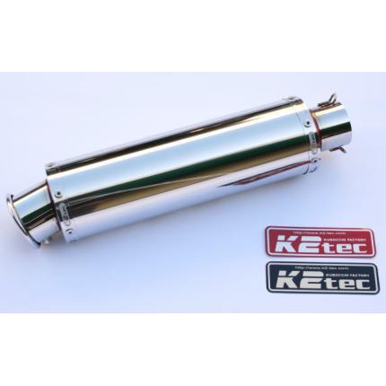 汎用ステンレスサイレンサー・外径:φ90・筒長:300mm・差込径:φ60.5・出口:カール K2-tec(ケイツーテック)