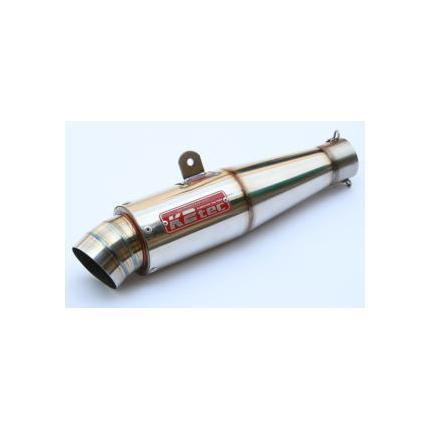 GPスタイルテーパーサイレンサーステンレス(SUS304)・出口タイプ:3ピース・テーパー長:140mm・差込径:φ60.5 K2-tec(ケイツーテック)