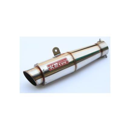GPスタイルテーパーサイレンサーステンレス(SUS304)・出口タイプ:M1・テーパー長:200mm・差込径:φ60.5 K2-tec(ケイツーテック)