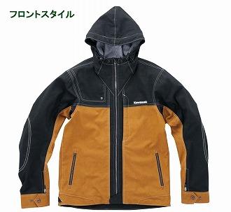 ジョカーレジャケットM ブラックマスタード Lサイズ KAWASAKI(カワサキ)