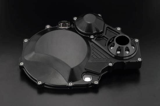 ZRX1200 DAEG(ダエグ) クラッチカバー TYPE2 スーパーブラック アルミスライダー付 K-FACTORY(ケイファクトリー)