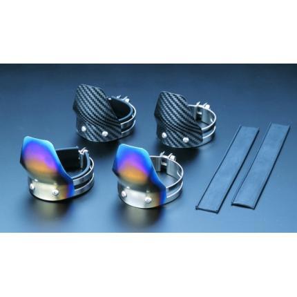 フロントフォークガード(S)サイズ) チタン製 GPZ900R(A6) K-FACTORY(ケイファクトリー)