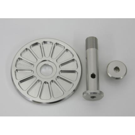 オイルフィルターカバーセット シルバー Z1/Z2 K-FACTORY(ケイファクトリー)