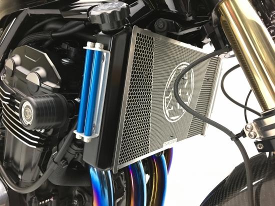 ラジエターサイドカバー ブルー K-FACTORY(ケイファクトリー) Z900RS (18年)