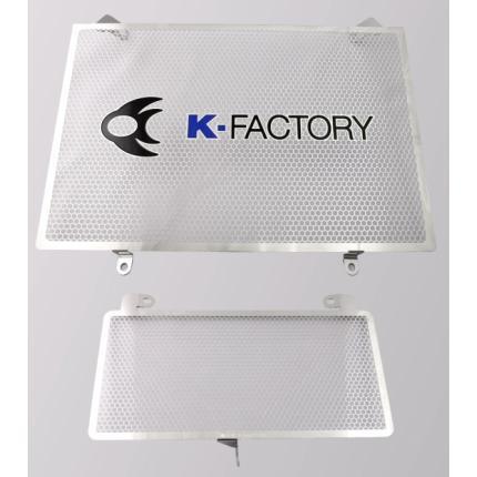 ラジエターコアガード(オイルクーラーガード付) Aタイプ(オイルクーラーガード付) GSX1300R隼(08年~) K-FACTORY(ケイファクトリー)