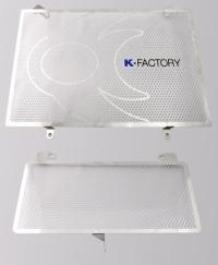 ラジエターコアガード(オイルクーラーガード付) Bタイプ(オイルクーラーガード付) GSX1300R隼(08年~) K-FACTORY(ケイファクトリー)
