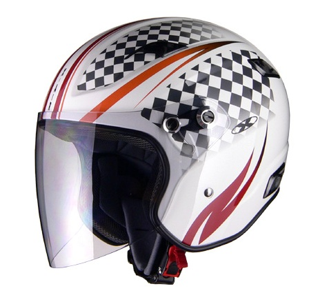 X-AIR RAZZOIII G1 ジェットヘルメット ホワイト/スポーティ リード工業