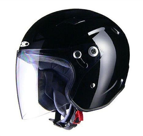 X-AIR RAZZOIII ジェットヘルメット ブラック リード工業