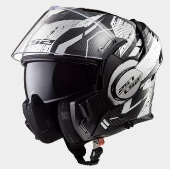 VALIANT(バリアント)システムヘルメット ブラック ホワイト クローム Mサイズ LS2(エルエス2)