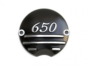 XS650 ポイントカバー 3Fin 650 ブラック MOTORROCK(モーターロック)