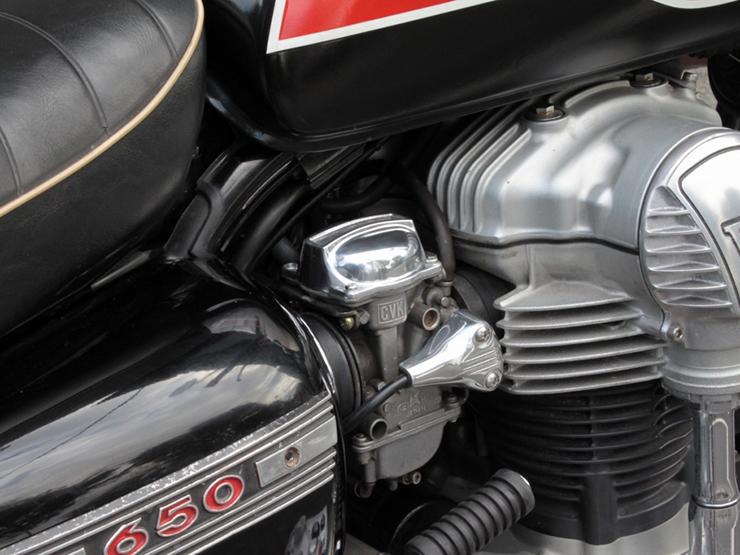 W650 キャブレタートップカバーContrastセット(FORK) MOTORROCK(モーターロック)