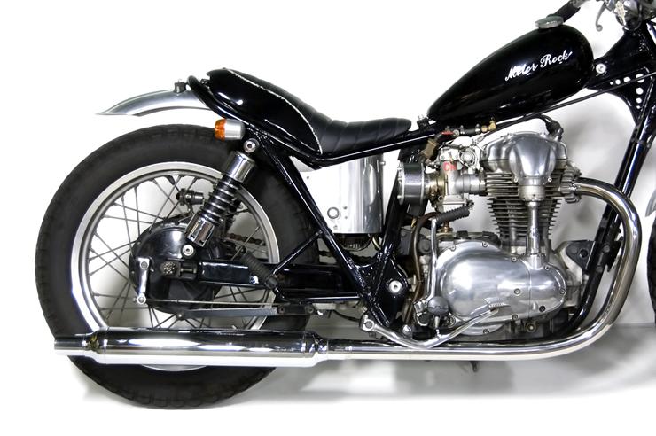 W400 ヴィンテージマフラー フルエキゾースト LOW MOTORROCK(モーターロック)