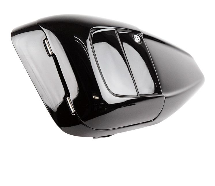 スポーツスターXL(07~13年) ETCビルトイン・サイドカバー ウレタンツヤ有黒塗装 GLEAMING WORKS(グリーミングワークス)