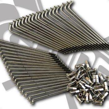 エストレヤ(ESTRELLA)ドラム車 ステンレススポーク単品 21インチ フロント GOODS(モーターガレージグッズ)