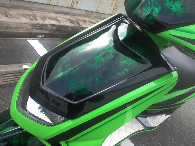 シグナスX(CYGNUS-X)SE12J フロントフェイス FRP黒ゲル M-DESIGN(エムデザイン)