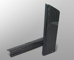 Dトラッカー(98~07年) フォークカバー(左右セット)平織りカーボン製 MAGICAL RACING(マジカルレーシング)