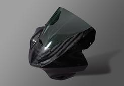 V-MAX(09年~) アッパーカウル 平織りカーボン製/スモーク MAGICAL RACING(マジカルレーシング)