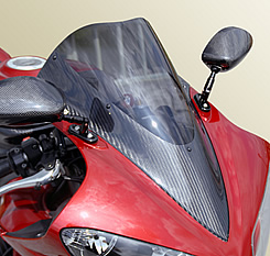YZF-R1(07~08年) カーボントリムスクリーン 平織りカーボン製/スーパーコート MAGICAL RACING(マジカルレーシング)