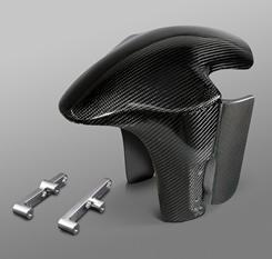 YZF-R1(02~08年) フロントフェンダー/耐久ショート仕様 フォークガード付/FRP製・黒 MAGICAL RACING(マジカルレーシング)