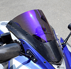 YZF-R25(15年) カーボントリムスクリーン 綾織りカーボン製/スーパーコート MAGICAL RACING(マジカルレーシング)
