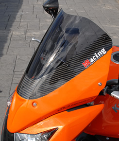 Z1000(07~09年) アッパーカウル・純正ペイント仕様 パールワイルドフラワーオレンジ/クリア MAGICAL RACING(マジカルレーシング)