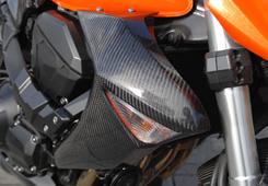 Z1000(07~09年) ラジエターシュラウド(左右セット)綾織りカーボン製 MAGICAL RACING(マジカルレーシング)
