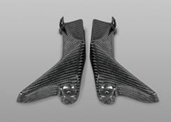 Z1000(10~13年) フロントサイドカバー 綾織りカーボン製 MAGICAL RACING(マジカルレーシング)