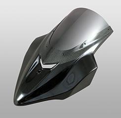 Z1000(14年~) バイザースクリーン FRP製・黒/一部綾織りカーボン製 スモークスクリーン MAGICAL RACING(マジカルレーシング)