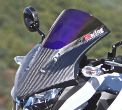 Z250(13年) バイザースクリーン スーパーコートスクリーン/綾織りカーボン製 MAGICAL RACING(マジカルレーシング)