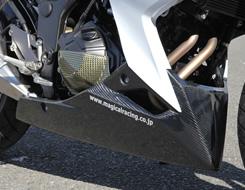 Z250(13年) アンダーカウル FRP製・黒 MAGICAL RACING(マジカルレーシング)