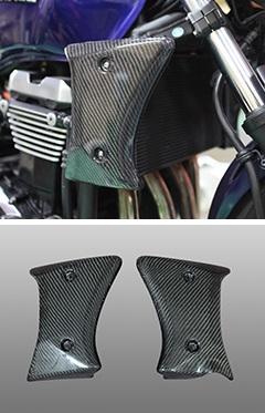ZRX1200 DAEG(ダエグ)09年~ ラジエターシュラウド(左右セット)平織りカーボン製 MAGICAL RACING(マジカルレーシング)