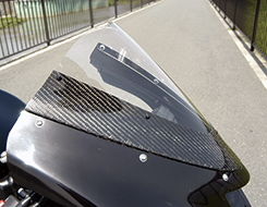 ZX-10R(06~07年) カーボントリムスクリーン 平織りカーボン製・クリア MAGICAL RACING(マジカルレーシング)