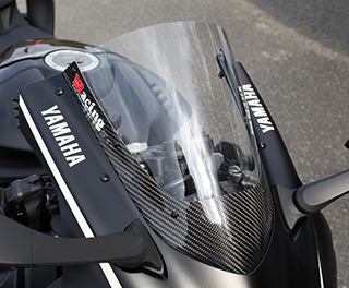 カーボントリムスクリーン/平織りカーボン製/スーパーコート MAGICAL RACING(マジカルレーシング) YZF-R6(17年)
