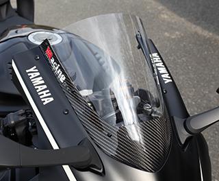 カーボントリムスクリーン/綾織りカーボン製/スーパーコート MAGICAL RACING(マジカルレーシング) YZF-R6(17年)