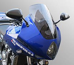CB1300SF(03~07年) ストリート用 アッパーカウル コンプリートキット FRP製・白/クリア MAGICAL RACING(マジカルレーシング)