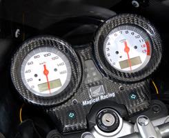 VTR250(09年~) メーターカバー G・シルバー MAGICAL RACING(マジカルレーシング)