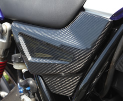 CB400SF REVO サイドカバー 平織りカーボン製 MAGICAL RACING(マジカルレーシング)
