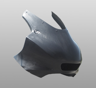 レーシングボディーワーク/アッパーカウル(リペアパーツ)/FRP製・黒 MAGICAL RACING(マジカルレーシング) Ninja250(ニンジャ250)18年