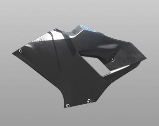 レーシングボディーワーク/サイドカウル(左側・リペアパーツ)/FRP製・黒 MAGICAL RACING(マジカルレーシング) Ninja250(ニンジャ250)18年