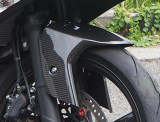 【送料無料】 フロントフェンダー/綾織りカーボン製 MAGICAL RACING(マジカルレーシング) Ninja400(ニンジャ400)18年