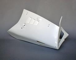 RG400ガンマ アンダーカウル(純正形状)FRP製・白 MAGICAL RACING(マジカルレーシング)