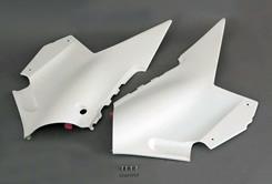 RG400ガンマ シートサイドカバー(純正形状・左右セット)FRP製・白 MAGICAL RACING(マジカルレーシング)